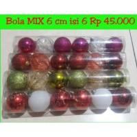Jual Bola natal mix 6 cm Aksesoris dekorasi hiasan ornamen bola pohon natal Murah