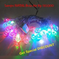 Jual Lampu NATAL BOLA AIR aksesoris ornamen dekorasi hiasan pohon natal chr Murah