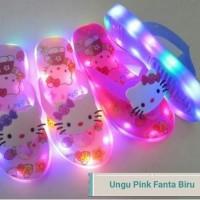 Jual Sandal Sendal Jepit Sepatu LED Hello Kitty Lampu Anak Cewek Girl Murah Murah