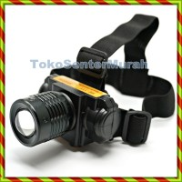 SENTER KEPALA ZOOM LED | HIGH POWER HEADLAMP | LAMPU HIKING TERANG