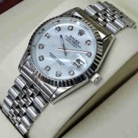 Jam Tangan Pria/Wanita Rolex Datejust Silver Stainless Steel