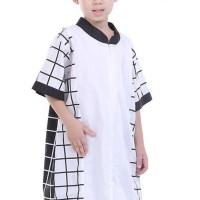Jual TDLR Baju koko Muslim Anak Laki-Laki Hitam Kombinasi - T 1112 Murah