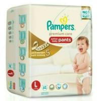 Jual Pampers premium active baby care pants L62 / Popok Cela Limited Murah