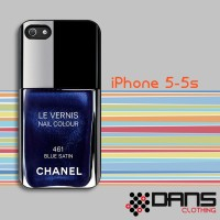 iPhone Case - iPhone 5s Chanel Nail Polish Blue Satin Cover