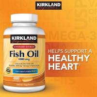 Kirkland Signature Fish Oil Concentrate Omega-3 isi 400 ED Panjang