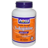 Amazon Best NOW Foods, L-Arginine, 1000 mg, 120 Tablets Import