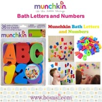 Jual SPESIAL Munchkin BATH LETTERS and NUMBERS NEW ARRIVAL Murah
