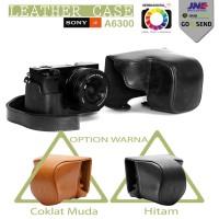 Jual SONY ALPHA A6000/A6300 Leather Case/Bag/Tas Kulit Kamer Premium Murah