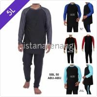 Baju Renang Pria JUMBO 5L Size Besar Dewasa Tangan Panjang SBL 50