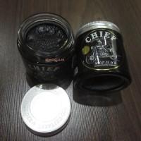 Jual CHIEF SOLID BLACK POMADE WATERBASED 4.2OZ FREE SISIR - GLASS JAR Murah