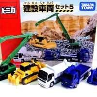 Jual Mobil Tomica Gift Set Construction Equipment Set 5 Takara tomy Murah