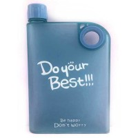 Jual Memobottle Botol Minum Flat 380ml-Biru Matte Murah