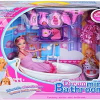Jual DREAM MINI BATHROOM - MINI BATH TUB DOLL Murah