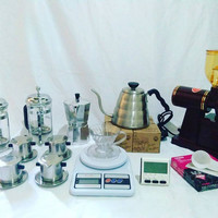 Jual Paket Alat Cafe Kopi AGYAT (Grinder, vietnam Drip, V60, Mokapot, dll) Murah