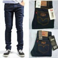 Jual Jeans Pria Levis Slimfit BlueBlack   Skinny   Hitam Garment Murah