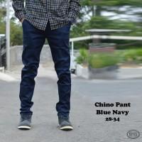 Jual Celana Chino Panjang navi Premium | Biru dongker | Kantor | Slimfit Murah