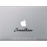 Decal Sticker Macbook Custom Name Font Editor