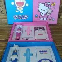 Jual Doraemon Powerbank Gift Set Tongsis Kabel Mini Kado Unik Lucu Murah Hp Murah