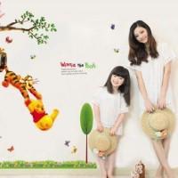 Jual Winnie The Pooh II  AY842 - Stiker Dinding / Wall Sticker Murah
