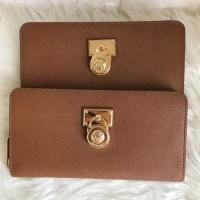 Dompet Michael Kors Original / MK Hamilton Wallet Zip Saffiano Lugga