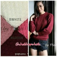 Jual Promo Sweater popcorn / pineapple sweater / jaket rajut Murah