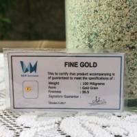 Emas murni 24K logam mulia size mini (0,1 gr) gold grain non antam UBS
