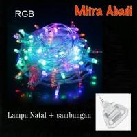 Jual LAMPU HIAS NATAL / DEKORASI LED RGB + COLOKAN SAMBUNGAN Murah