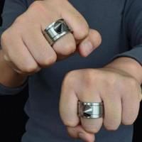 cincin knuckle spike ring self defense edc tactical pemecah kaca mobil