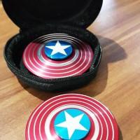 Jual Fidget Spinner Capt America Shield Tameng Perisai - Hand Toys Premium Murah