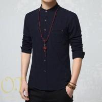 Jual koko zyan black OT baju koko katun stretch hitam Murah