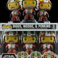 Jual Funko Pop Star Wars 3 Pack Pilot Wedge Biggs And Porkins Murah