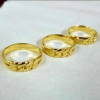 cincin rotan gold lapis emas