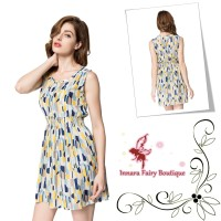 Summer Dress Yellow Abstract
