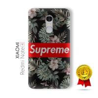 Xiaomi Redmi Note 4 4x Casing Custom Hard Case 3D Supreme Flower