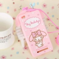 Oppo F3 A77 3D My Melody Bow Neck Strap Silicone Phone case