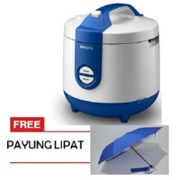 Jual Philips Rice Cooker 2 Liter HD3118 Biru - Free Payung Lipat Murah