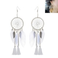 E04194 - Anting Hooks Dreamcatcher White