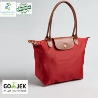 Authentic Longchamp Le Pliage Nylon Tote Bag - Red