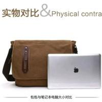 tas laptop notebook kanvas import premium pria wanita multifungsi ke