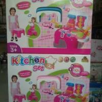 Mainan Kitchen Set bisa jadi kursi bangku - Mainan Masak Masakan