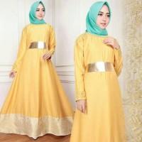 mayasa syari kuning busana muslim hijab gamis maxi maysha KTs