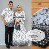 Baju Batik Modern Kebaya Couple Muslim Dress kemeja Pria chandani puti
