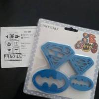 cutter cookies / cetakan fondant / clay / playdough superman batman