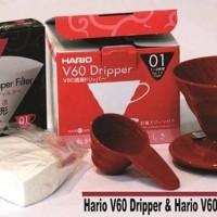 Jual Paket Hario V60 01 [Coffee Dripper+Paper Filter 40] Murah