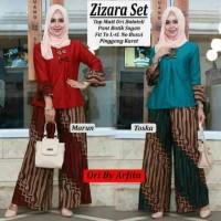 Celana dan Blus Batik Solo. CnB Kulot Batik Parang Zizara Set Series