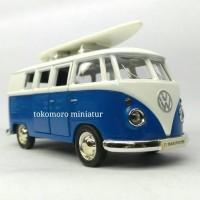 tokomoro miniatur mobil klasik vw kombi T1 transpoter surfing hadiah