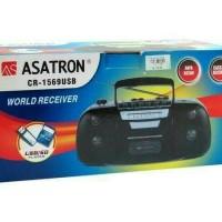 Jual RADIO KASET/RADIO TAPE ASATRON CR 1569 (USB MP3 MCM) Muraahh !! Murah