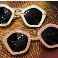Super! Kacamata Anak Korean Style Vintage Kc 124 White/pink