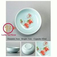 Chinese kungfu fish celadon tea cup cangkir teh biru ikan