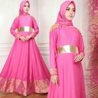 mayasa syari pink fanta busana muslim hijab gamis maxi maysha KT